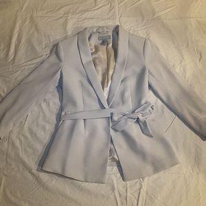 H&M cream belted blazer sz 8